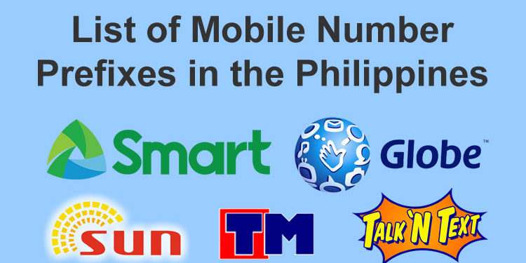 mobile number prefixes