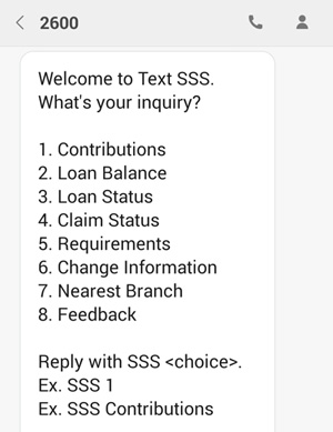 SSS contact number