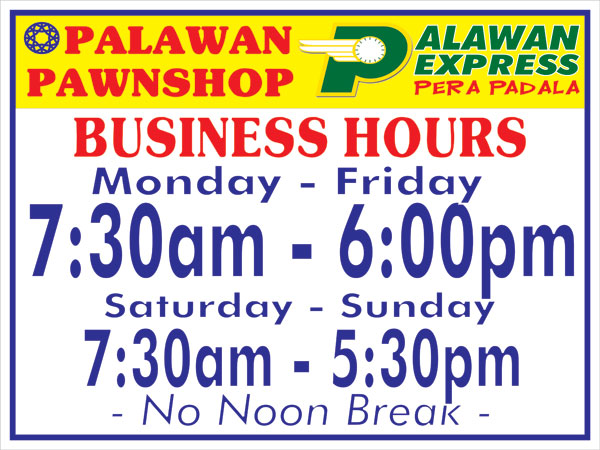 Palawan Express operating hours