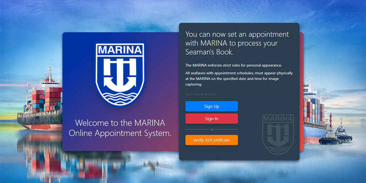 MARINA online appointment