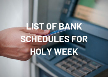 bank schedules for holy week