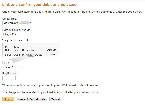 Link or confirm your debit or credit card