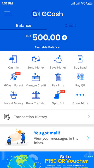 PayPal to GCash transfer completed