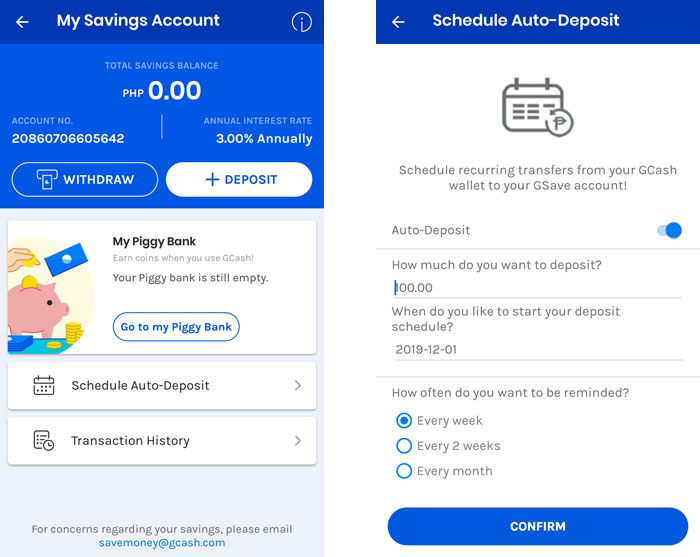 Save money with GCash