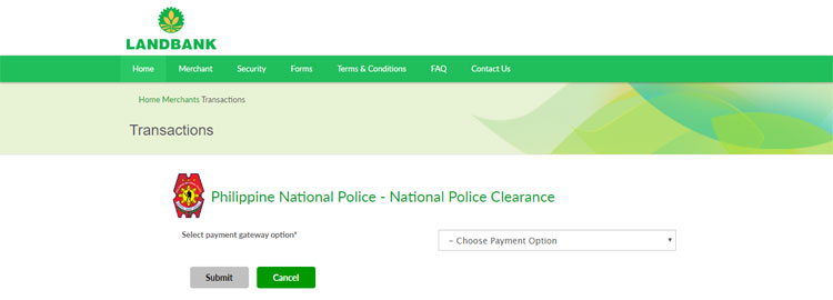 Police clearance payment