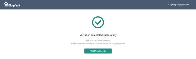 Migration completed