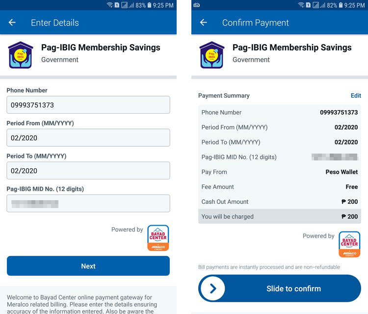 Coins.ph payment