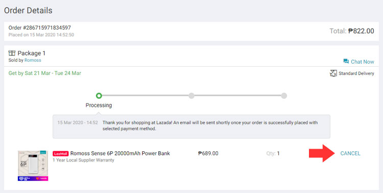 How to cancel your order in Lazada