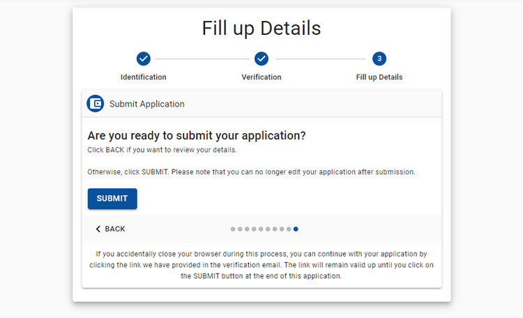 Submit COL Financial application