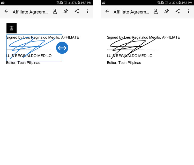 Add a signature to PDF with Adobe Fill and Sign