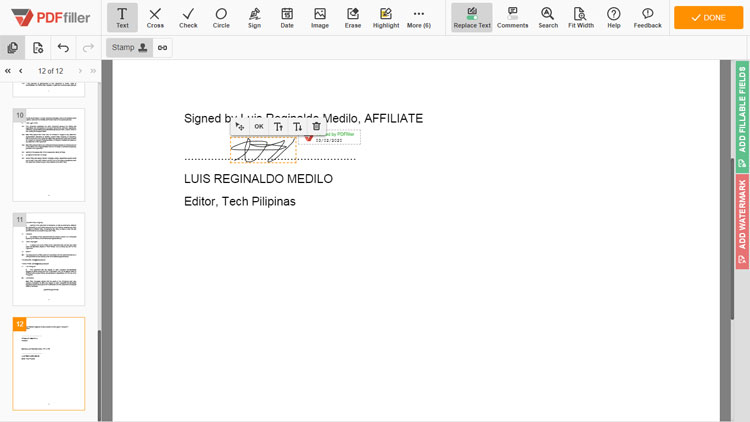Sign PDF documents with PDFfiller