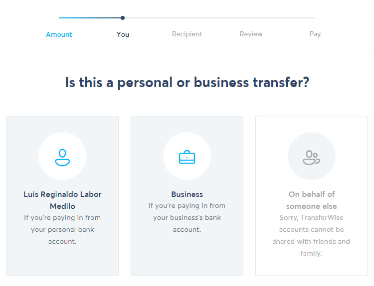 Personal or business transfer