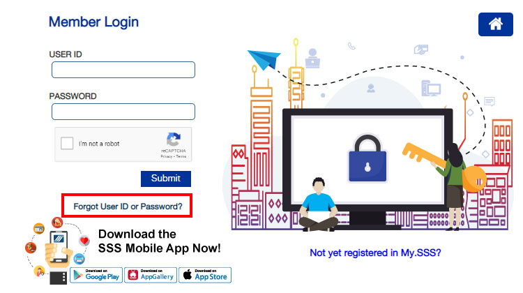 Reset SSS password and user ID