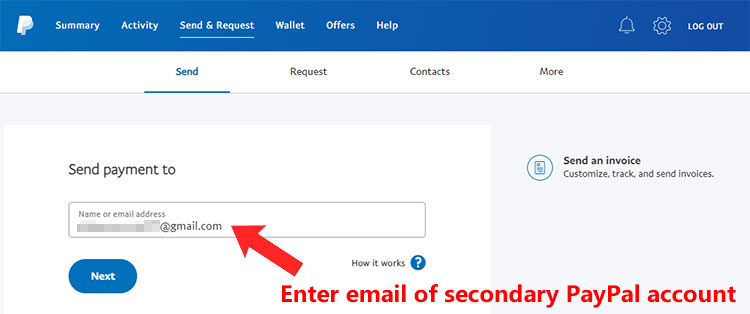 Send money from GCash to PayPal