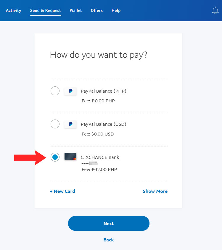 How do you want to pay?