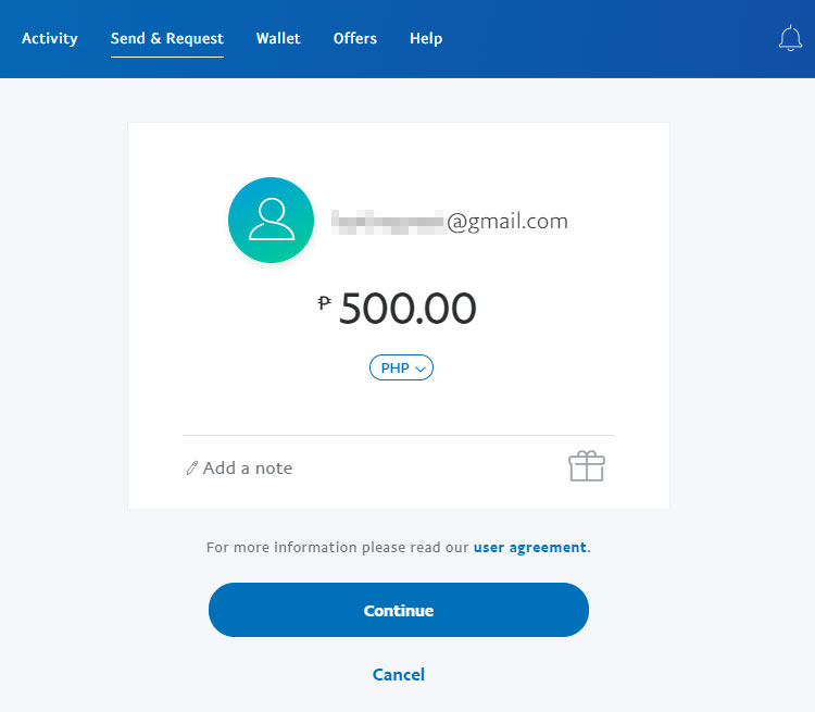 Transfer from GCash to PayPal