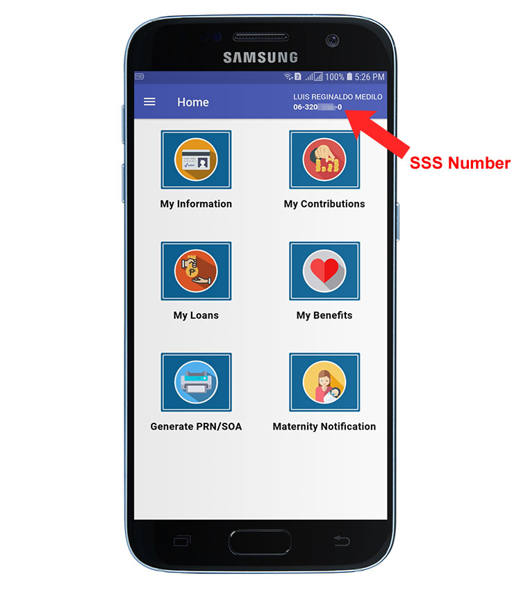 How to know your SSS number in mobile app