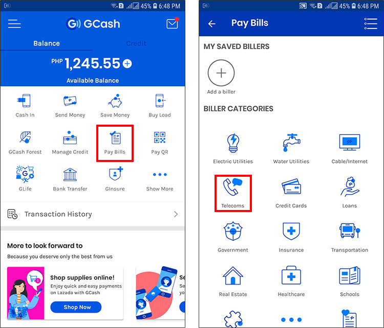 How to pay your PLDT bill using GCash