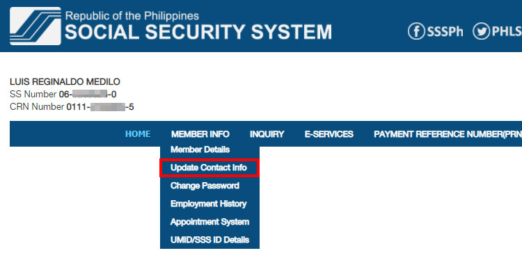 Update SSS contact information