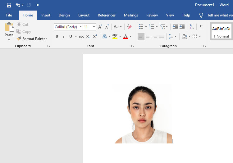 2x2 picture in Microsoft Word