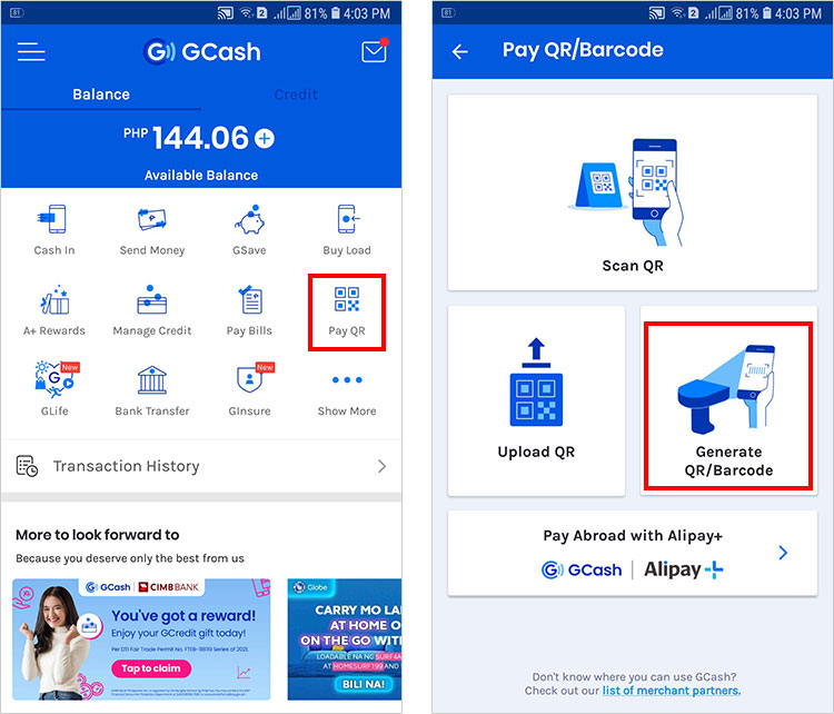 How to generate QR code in GCash to receive money