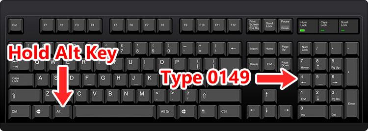 Bullet point symbol keyboard shortcut