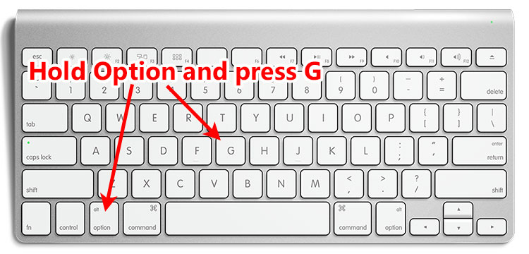 How to type the copyright symbol on the Mac keyboard