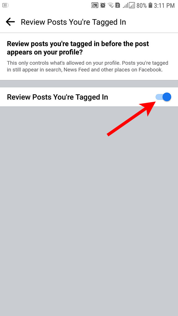 Review posts you're tagged in