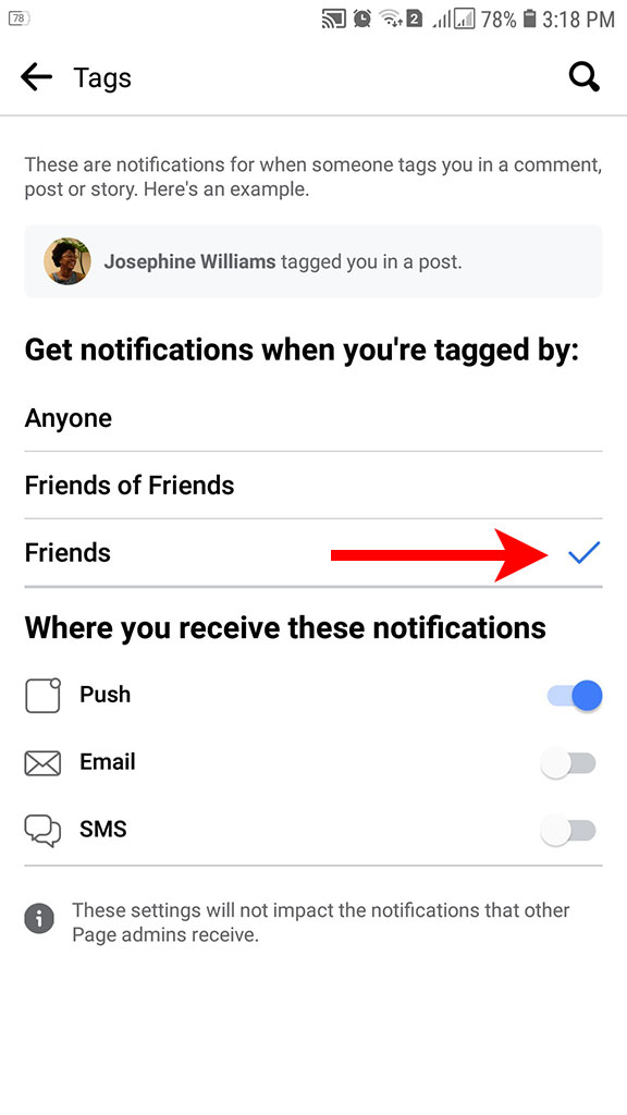 Get notifications when tagged
