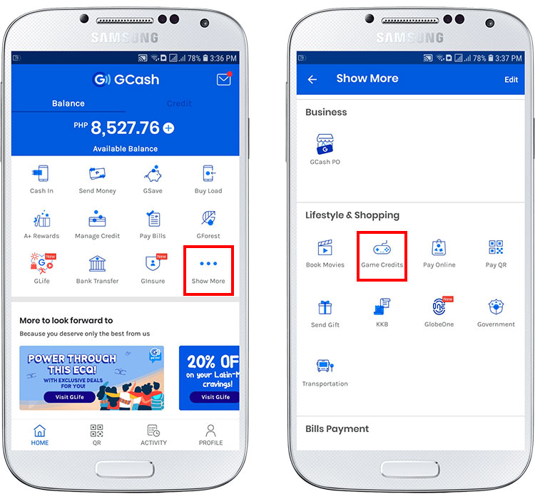How to buy Robux on the GCash app