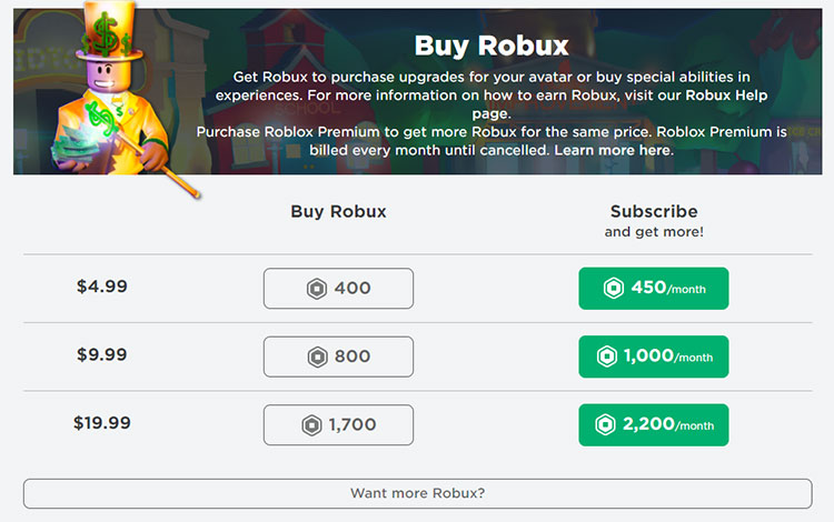 How to buy Robux