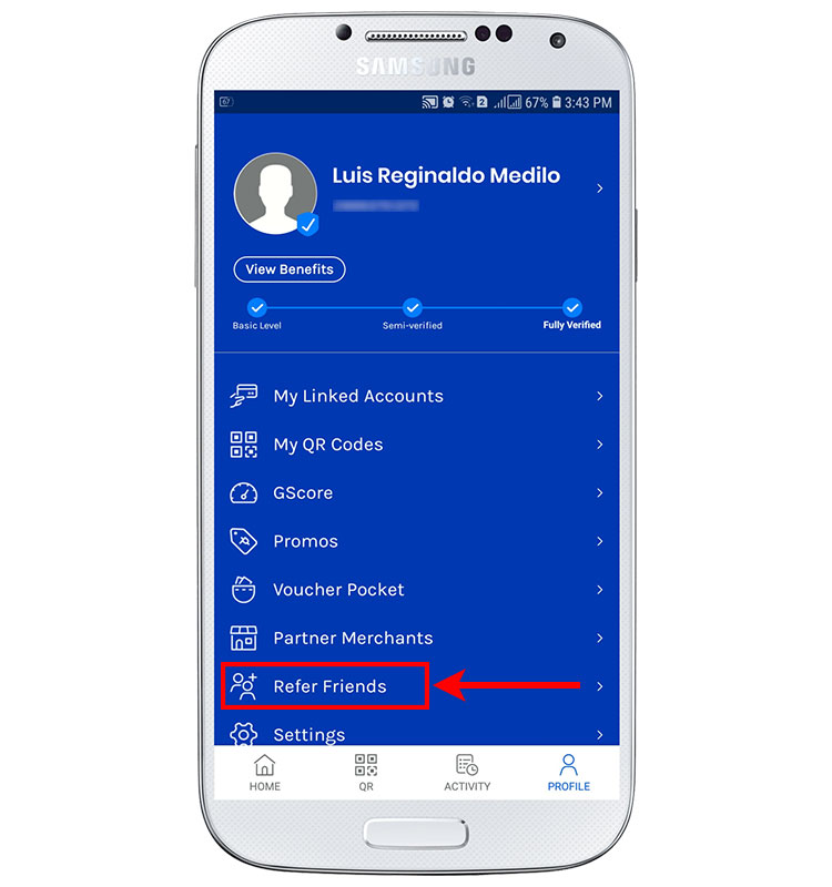 Where to find your GCash referral code